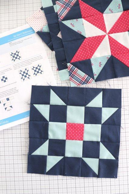 Nine Patch Star quilt block