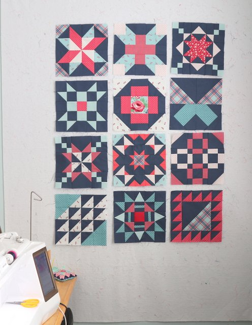 12 Free Quilt Block pattern from Riley Blake Designs