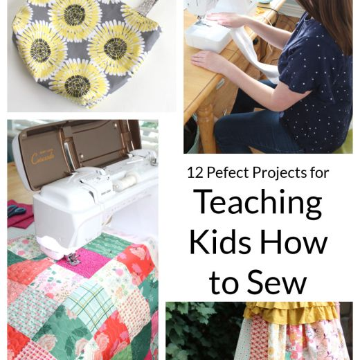 12 Easy Sewing Projects for Kids & Beginners featured by top US sewing blogger, Diary of a Quilter