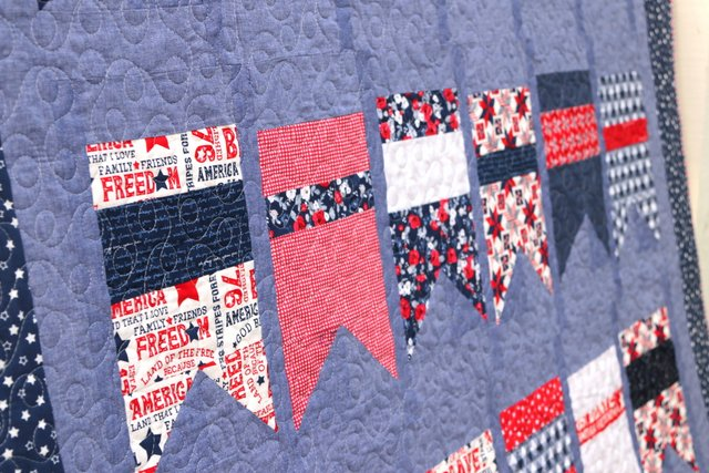 Let Freedom Soar and Land of Liberty fabric from Riley Blake Designs
