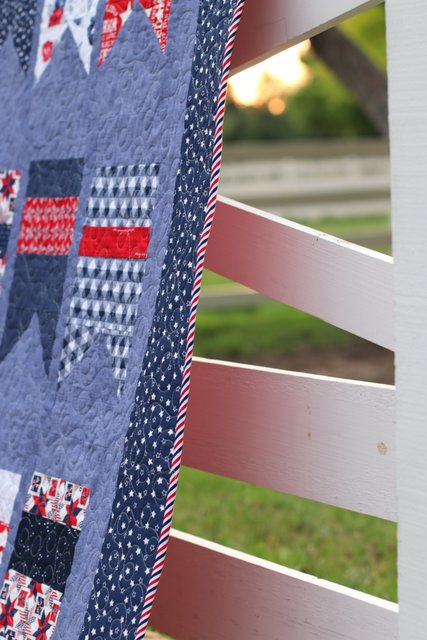 Red, White, and Blue bias quilt binding - patriotic basic stripe from Riley Blake Designs