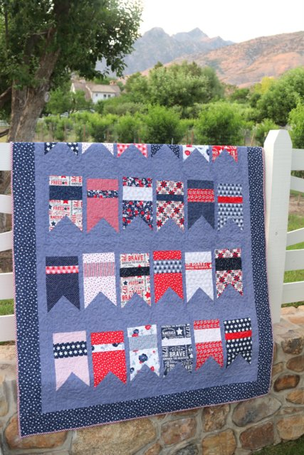 Red, White, and Blue Bunting Flag Quilt pattern by Amy Smart