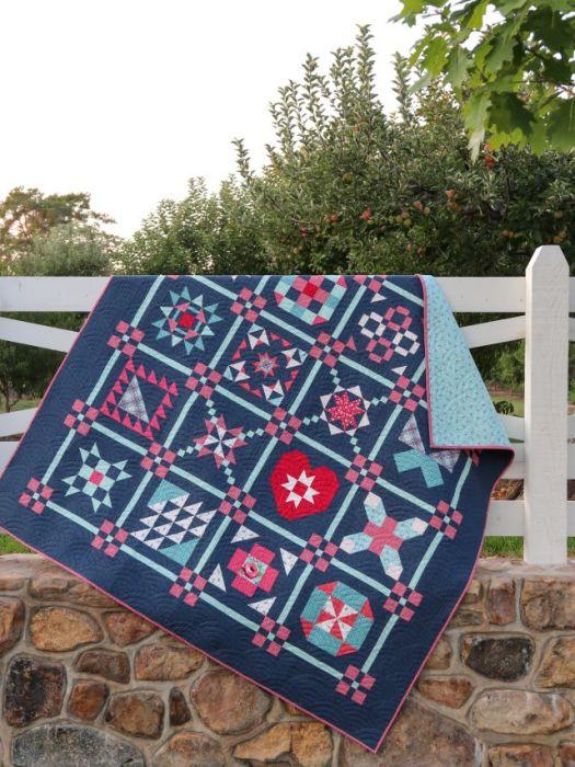 Riley Blake 2021 Quilt Block Sampler Quilt Pattern - Free