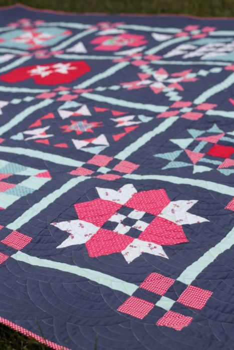 Navy Sampler Quilt by Amy Smart