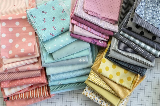 Pastel fabrics for a modern quilt