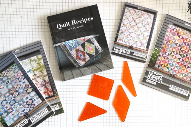Acrylic Templates for quilt pattern by Jen Kingwell