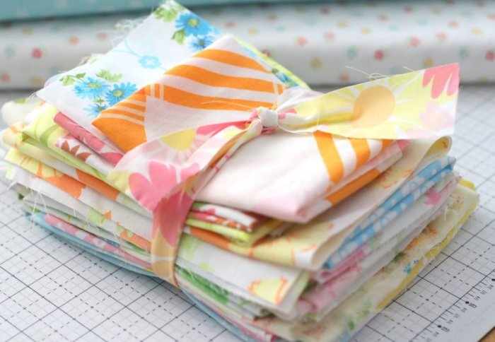 Vintage Sheets from 60's and 70's made into a patchwork quilt