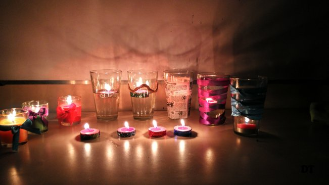 EASY DIY CANDLES DECORARTION