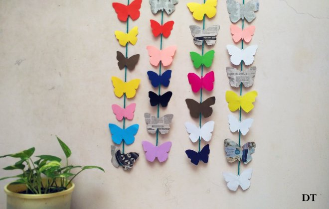 Easy And Colourful Butterfly Wall Hangings