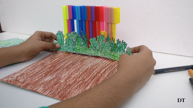 models built using faber-castell pens