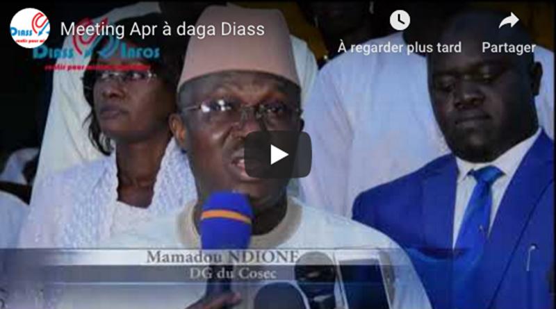 Meeting Apr à daga Diass : présidépar le DG du Cosec Mamadou Ndione.