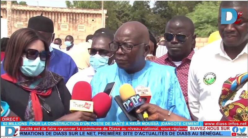62 millions pour la construction d'un poste de Santé à Keur Moussa  (DANGOTE CIMENT)