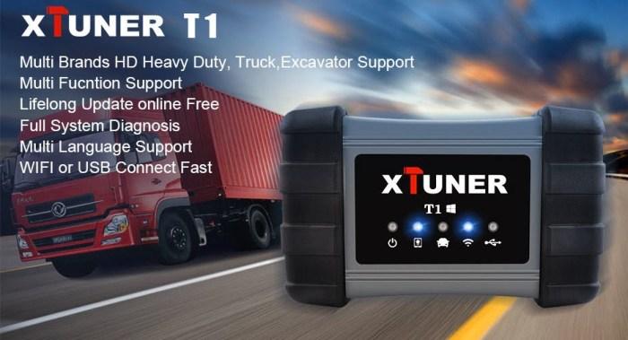 XTUNER T1 Heavy Duty Truck Module Diagnostic Tool