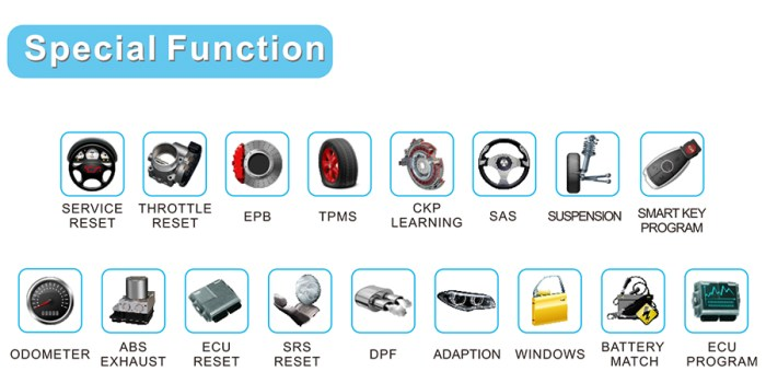 FCAR F7S G Diagnostic Tool Special Functions