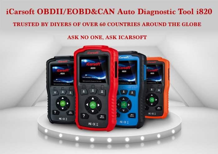 iCarsoft i820 OBDII/EOBD CAN Car Diagnostic Tool