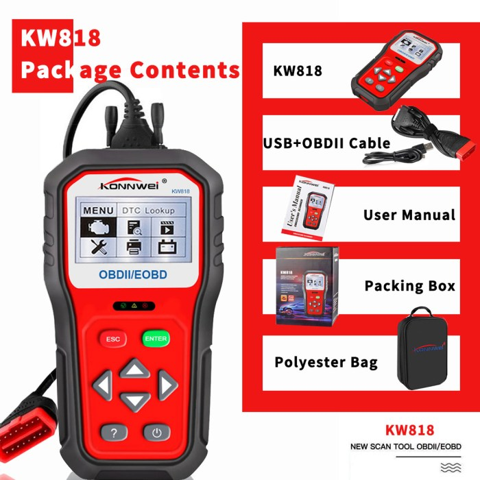 KONNWEI KW818 Package List