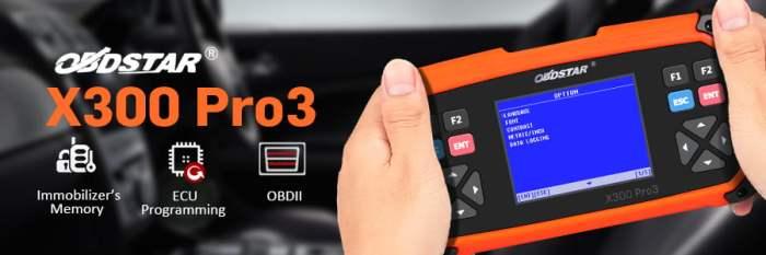 OBDSTAR X300 PRO3 Full Configuration Key Programmer