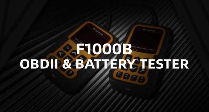 Foxwell F1000B OBDII Scanner & Battery Tester