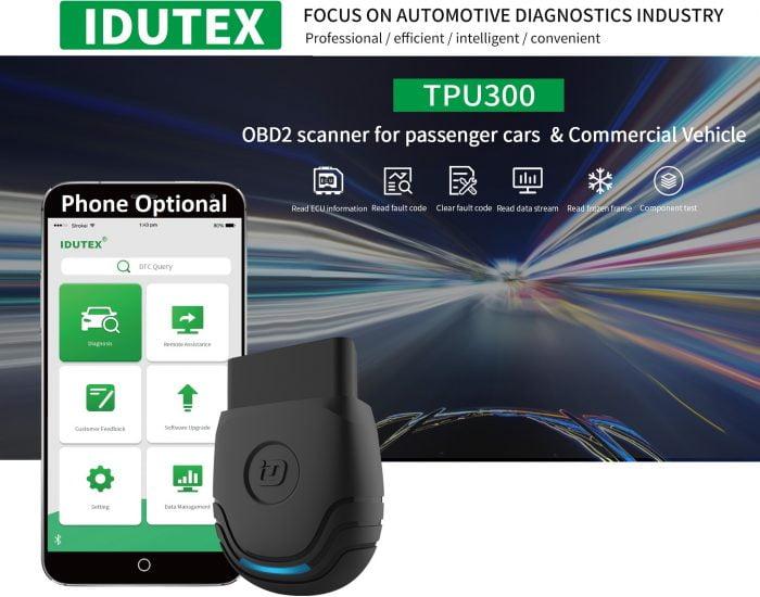 IDUTEX TPU300 Heavy Duty Trucks & Cars Diagnostic Scanner Banner