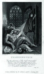 Plate from Mary Shelley's 1831 edition of Frankenstein: