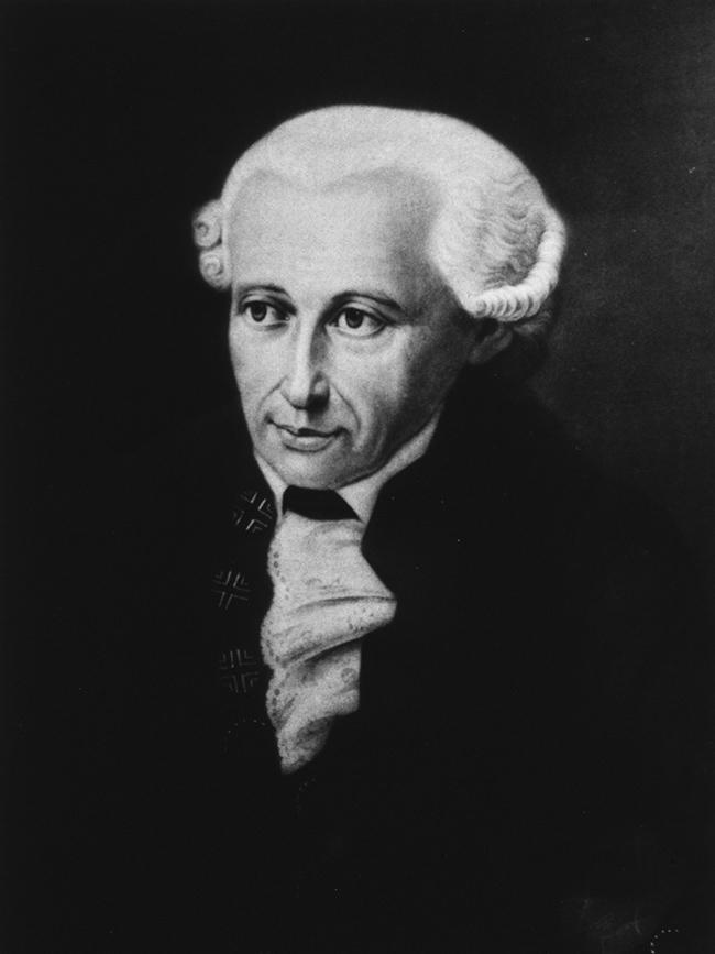 Portrait of Immanuel Kant. image