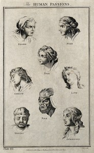 Eight physiognomies of human passions. Image