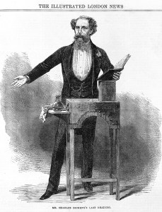 Dickens giving the last reading of his Works. Image