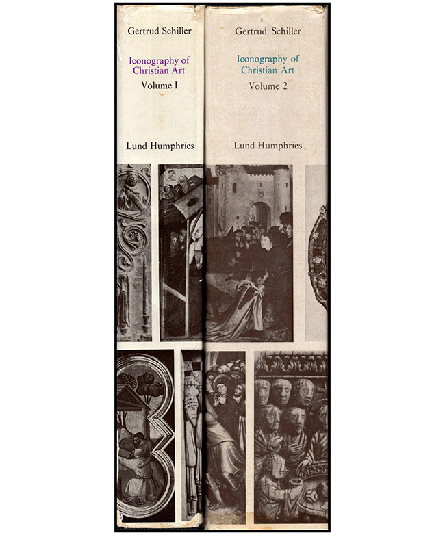 Iconography of Christian Art (Volumes I and II), book spines