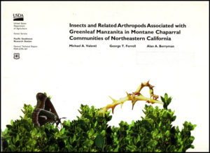 Book Cover: Insects and Related Arthropods Associated with Greenleaf Manzanita in Montane Chaparral Communities of Northeastern California (General Technical Report PSW)