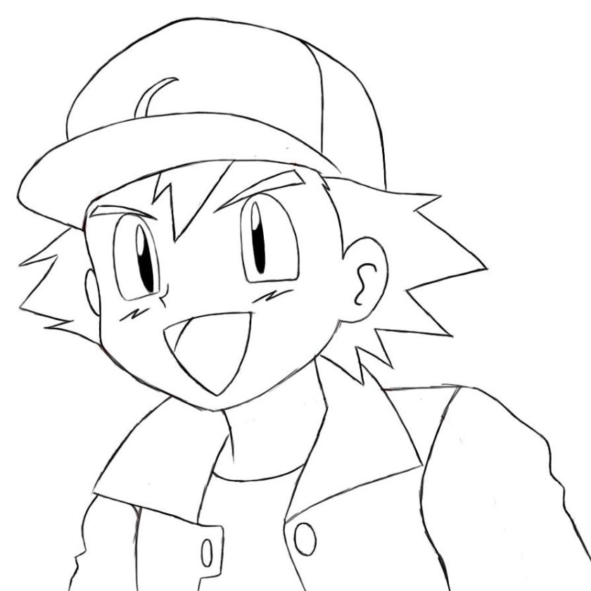 ash ketchum pokemon coloring page coloring pages