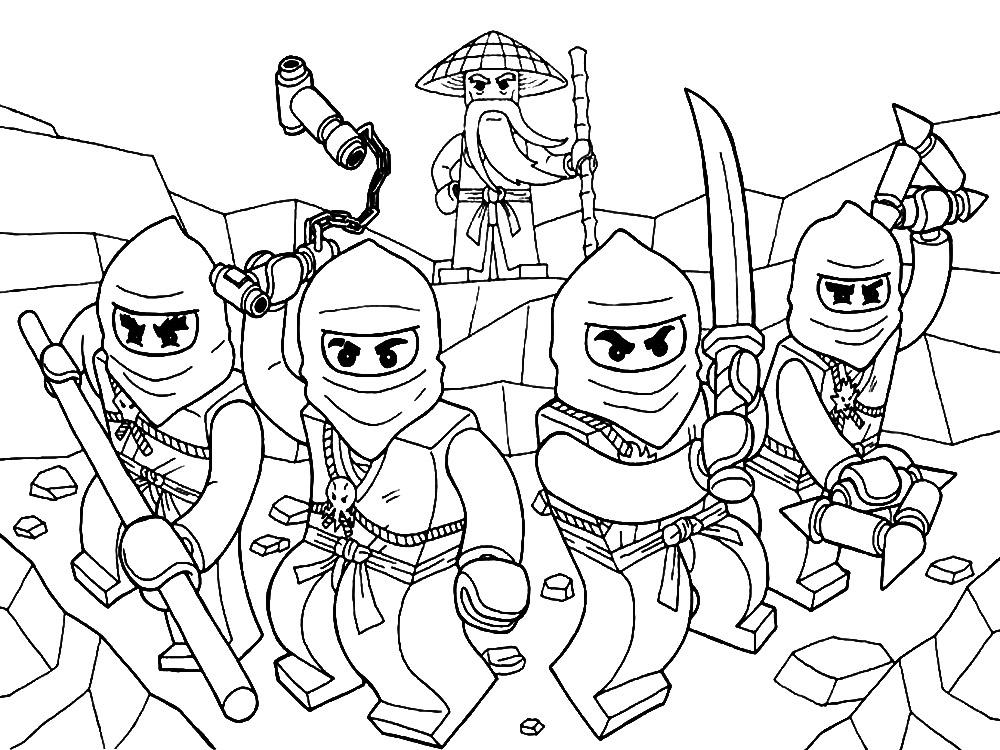 Lego Ningajo Dibujos Colorear Ninjas Dibujalandia