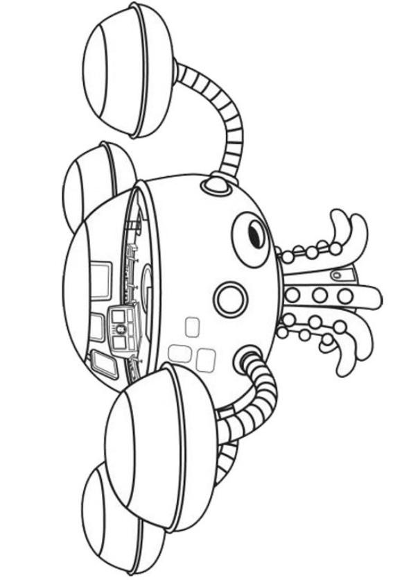 Nave Octonautas Dibujos Para Colorear Dibujalandia