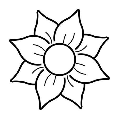 Flores Faciles Dibujar Para