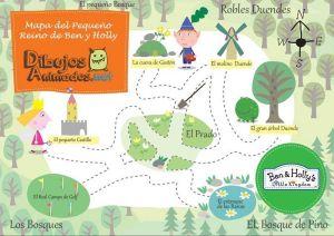 mapa del pequeño reino de Ben y Holly