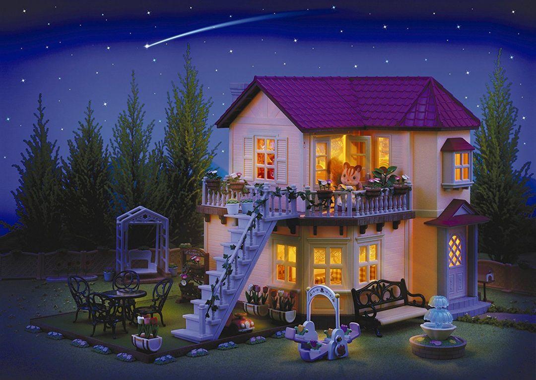 casa-de-ciudad-sylvanian-families-de-noche