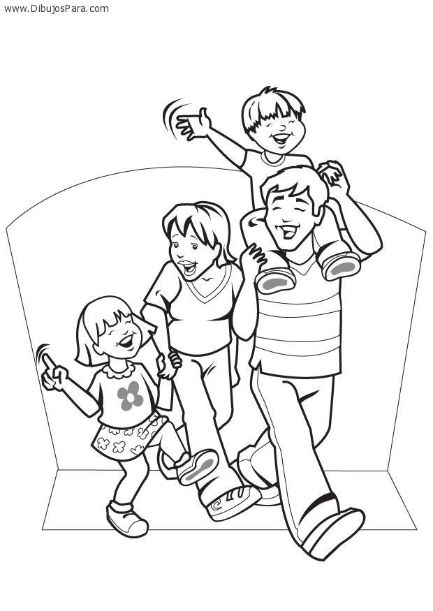 Dibujo De Familia Caminando Dibujos De Familias Para