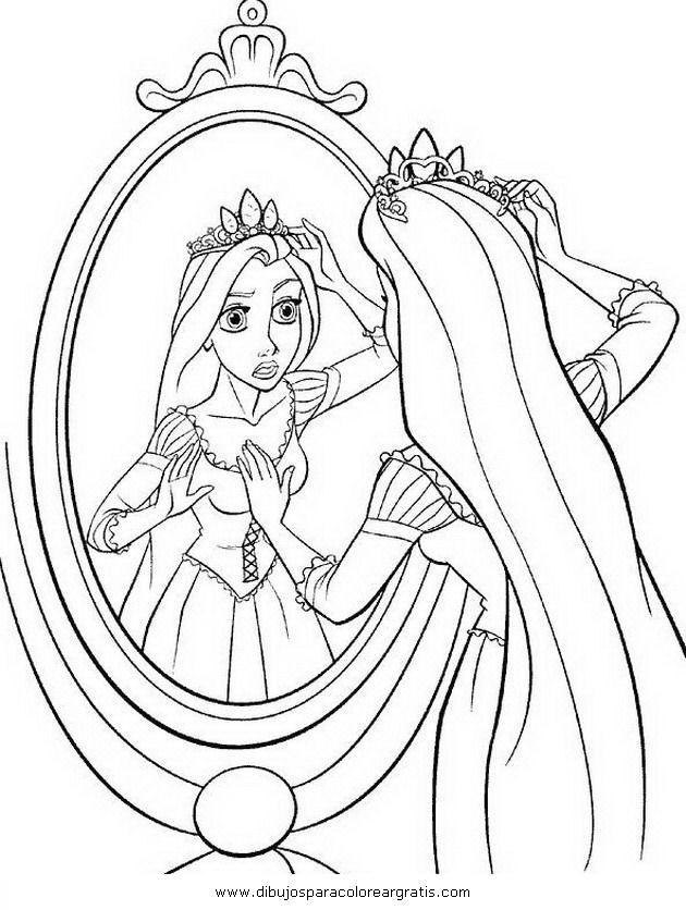 squeda para dibujos rapunzel enredados online colorear