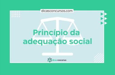 Princípio da adequação social