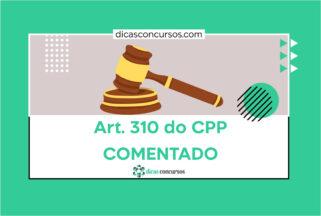 Art. 310 do CPP [COMENTADO]