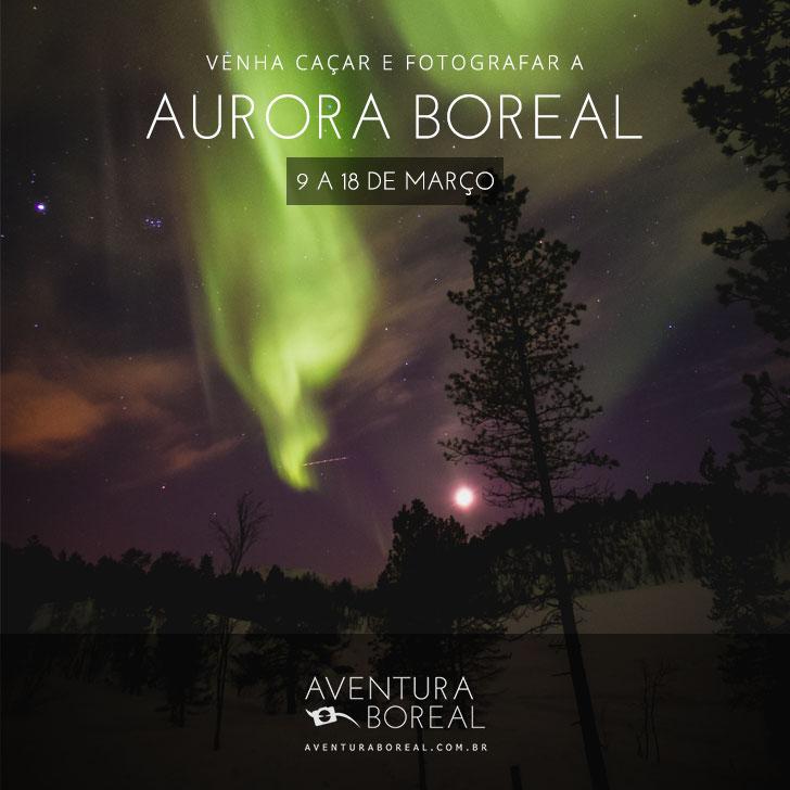 Viagem Fotografia Aurora Boreal
