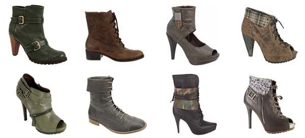 couromoda militar Tendências em sapatos para o inverno 2011