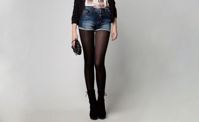 meia preta Meia calça preta é peça chave para os dias frios