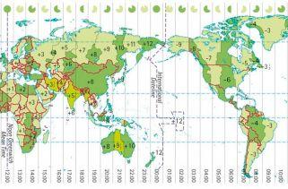 Países Com Mais Fusos Horários No Mundo