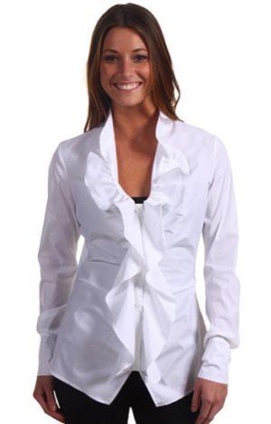 Moda de Camisas Femininas com Babado 7 Moda de Camisas Femininas com Babado