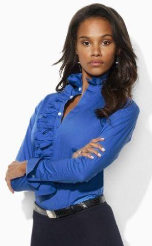 Tendência de Moda de Camisas Femininas com Babado 7 Moda de Camisas Femininas com Babado