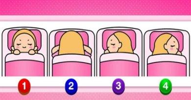 Qual posição dessas você dorme