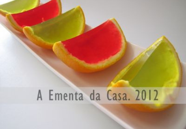 gelatina casca de laranja