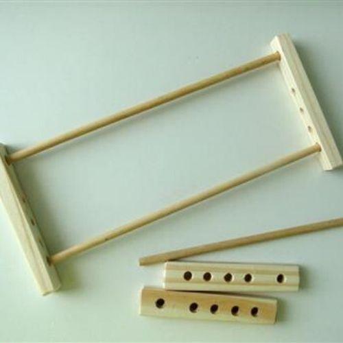 modelo de metal e madeira crochê de grampo