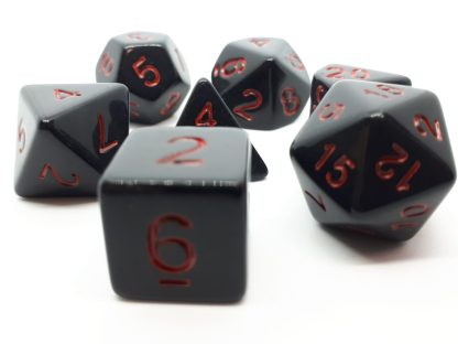 RPG Wuerfel Set Opaque Black/Red