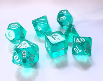RPG Wuerfel Set Transparent Ice-Mint